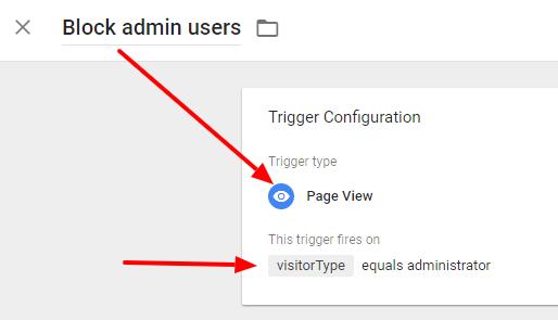Google Tag Manager: block admin users