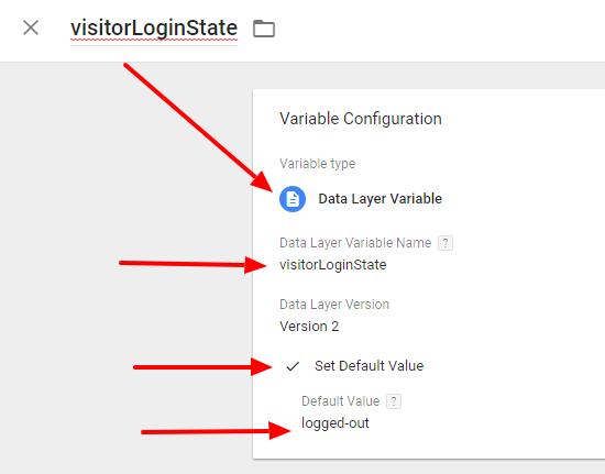 Google Tag Manager: visitorLoginState