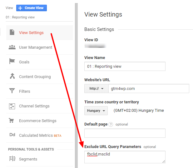 Google Analytics: Exclude URL Query Parameters