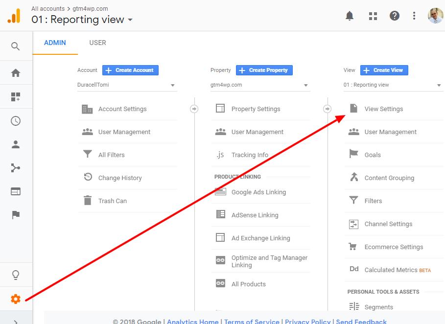 Google Analytics: VIew Settings