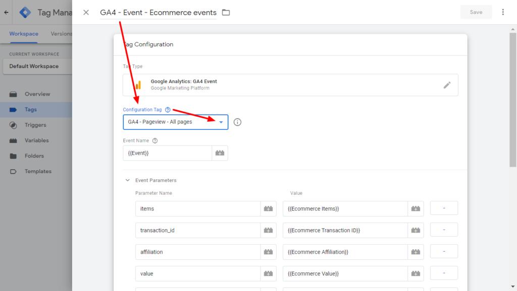 Google Analyitcs 4 tag - finish tag setup