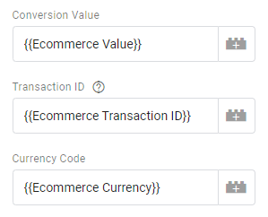 Google Ads Conversion Value, Order ID and Currency Code parameters