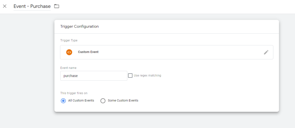 Create a purchase trigger for your Google Ads conversion tag